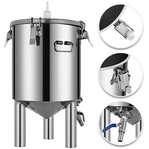 Vevor Brewing Stainless Bucket Fermentor 7 Gallon Conical Bottom Fermenter