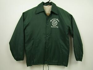 Vintage The Warm-Ups S Green Michigan State University MSU Sherpa Lined Jacket