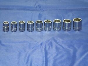 CRAFTSMAN 9 piece 6 point 3 8quot; in. METRIC SOCKET SET 10 18 MM BRAND NEW CHROME $14.79