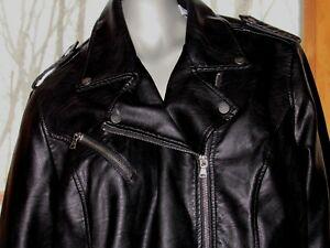NEW Tags Women's Levi's Black Motorcycle Faux Leather Jacket in Size 18 1X 20
