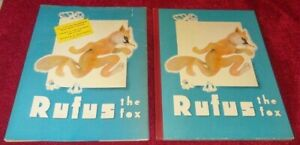 1937 RUFUS The FOX (FRANCE) 40 COLOR ILLUSTRATIONS FIRST U.S. EDITION RARE DJ