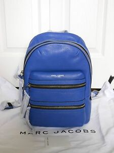 New Auth Marc Jacobs $495 Leather Backpack Handbag Bag Purse Cobalt Blue