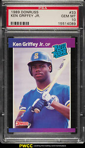 1989 Donruss Ken Griffey Jr. ROOKIE RC #33 PSA 10 GEM MINT (PWCC)