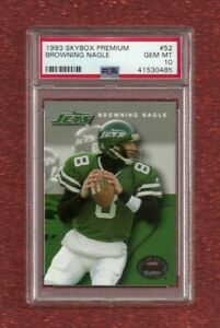 1993 SKYBOX PREMIUM #52 BROWNING NAGLE PSA 10 GEM MINT POP 1 NEW YORK JETS $32.95