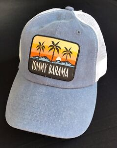 Tommy Bahama Beach Tropical Adjustable Mesh Vented Cap Trucker Hat Blue