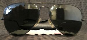 RAY BAN Aviator Large Designer Metal Sunglasses Black Frames Good Condition