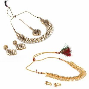 Designer Gold Plated Traditional Kundan Necklace for Women and Girls US7