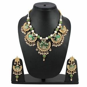 Designer Gold Plated Traditional Kundan Necklace  Women and Girls US217