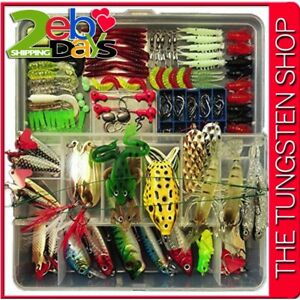 180 PCS Plastic Fishing Lures SET For Freshwater Saltwater with Hard Tackle