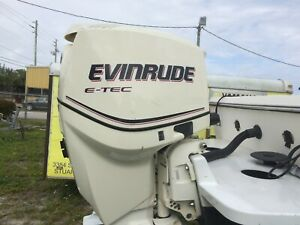 Preowned pair of 2010 E-tec 150 H.P. 25 inch outboard motors.