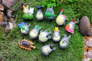 12pcs Japan Cartoon Lovely Hayao miyazaki My neighbor totoro Figure Toy Doll Hot