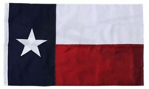 3x5 Texas Flag Embroidered Texas State Banner Grommets FAST USA SHIPPING
