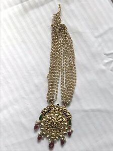 Necklace Pendant Gold Woman Chain Jewelry Charm Traditional Tourmaline Basra