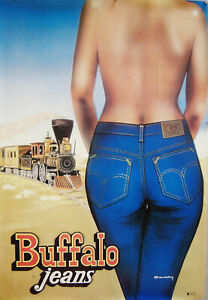 2 Vintage Buffalo Jeans First Stone Wash Exclusive Posters Original Lithographs