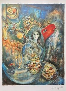 MARC CHAGALL quot;BELLAquot; Limited Edition Facsimile Signed Lithograph Art $59.99
