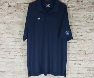Under Armour 2XL Dri Fit Polo Shirt PBR Pabst Blue Ribbon Beer Patch Stretch XXL