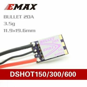 1 Piece of Emax Bullet BLHeli-S Mini DSHOT 20A ESC For 2-4S FPV Racing Drone