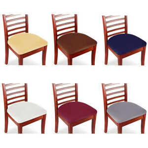 Set of 2 4 6 8 Stretch Removable Washable Dining Room Chair Seat Cover Slipcover $12.96