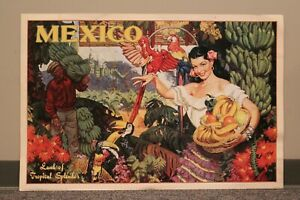 Portal Publications Mexico Land of Tropical Splendor Travel Lithograph Poster FR