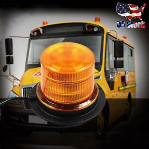 48 LED Emergency Snow Amber with Magnetic Strobe Light Warning Lights Flashing