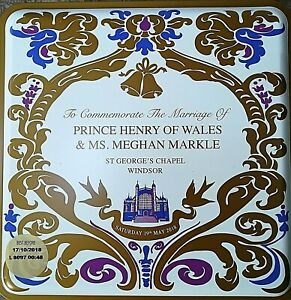 Brand New Royal Wedding Prince Harry & Meghan Markle 19th May 2018 Biscuit Tin