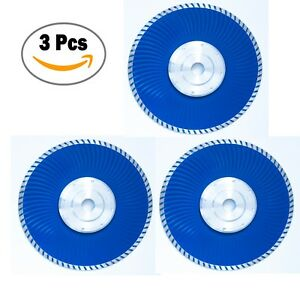 9 Inch Cold-Pressed Continuous Diamond Saw Blades Turbo Wave with Flange-3 Pcs