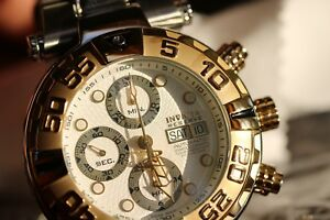 Invicta Subaqua Noma I 10482 Gold Ltd. Ed. 7750 Mechanical Auto Chronograph