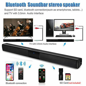 Home Theater Sound Bar Wireless Bluetooth TV Speaker RCAAUX With Remote Control