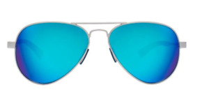 Under Armour Getaway Aviator Sunglasses - Satin SilverBlue Multiflection Lens