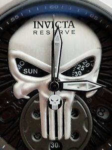 Invicta Reserve Punisher Watch skull zeus rifle bullets pistol biker bolt gun