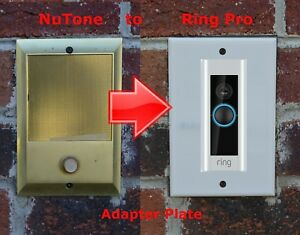 Ring PRO Doorbell adapter plate Nutone and M&S intercom systems STAINLESS STEEL