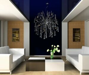 New Modern Crystal Aura Chandelier Abstract Metal Ceiling Lights  Lamp Fixture