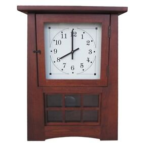 Amish HANDCRAFTED AMERICAN MADE SOLID CHERRY Mantle Clock Shelf Clock