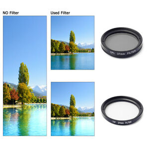 Filter Adapter + 37mm UV CPL Filter + Protecting Cap For Gopro Hero 3 3+ 4 LF368