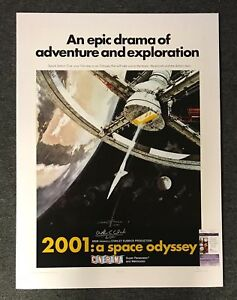 2001: A Space Odyssey Poster Signed by Arthur C. Clarke & Robert McCall (JSA)