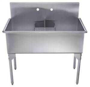 Large Two Bowl Commercial Utility Sink [ID 3722859]