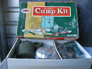 Vintage Camp Kit Cook Set WFS Aluminum Camp Cookware Japan Original Box No.194