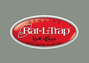 Rat-L-Trap decals stickers bass boat tournament sponsor fishing baits lures