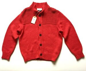 BNWT £169 Universal Works Red Cardigan medium Jumper Chunky Knit Sweater