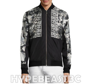 Versace Collection Bomber Jacket Water Color Graphic Print Mens Size IT48 US38
