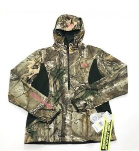 Under Armour Camo Pullover Jacket RealTree Zip Hunting Women Size Medium $140