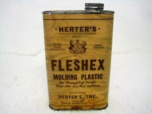 Vintage HERTERS Fleshex Molding Plastic for Making Live Bait Imitations Full