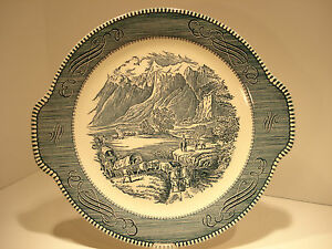 Currier amp; Ives quot; The Rocky Mountainsquot; Platter $8.95