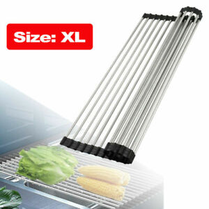Over the Sink Multipurpose Roll Up Dish Drying Rack Pan Bottle Food Drainer Mat