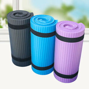 60x25cm Yoga Mat 15mm Thick Gym Exercise Fitness Pilates Workout Mat Non-Slip
