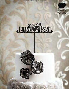 Personalized Mr and Mrs Bride Groom Wedding Cake Topper Wood Laser Cut - IP103