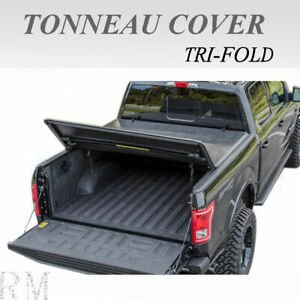 Lock Tri-Fold Soft Tonneau Cover Fit 2005-2019 TOYOTA TACOMA 5ft /60in Short Bed