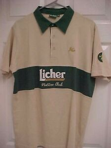 LICHER Brewery 1854 German Premium Beer Nature Club Sewn Men Polo Shirt L New