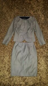 Escada Designer Suit Pencil Skirt & Matching Jacket New Wool & Silk. UK 10 EU 36