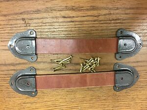 Antique Trunk Hardware Leather HandlesEnds and Nails for Trunks amp; Chests New U $26.50
